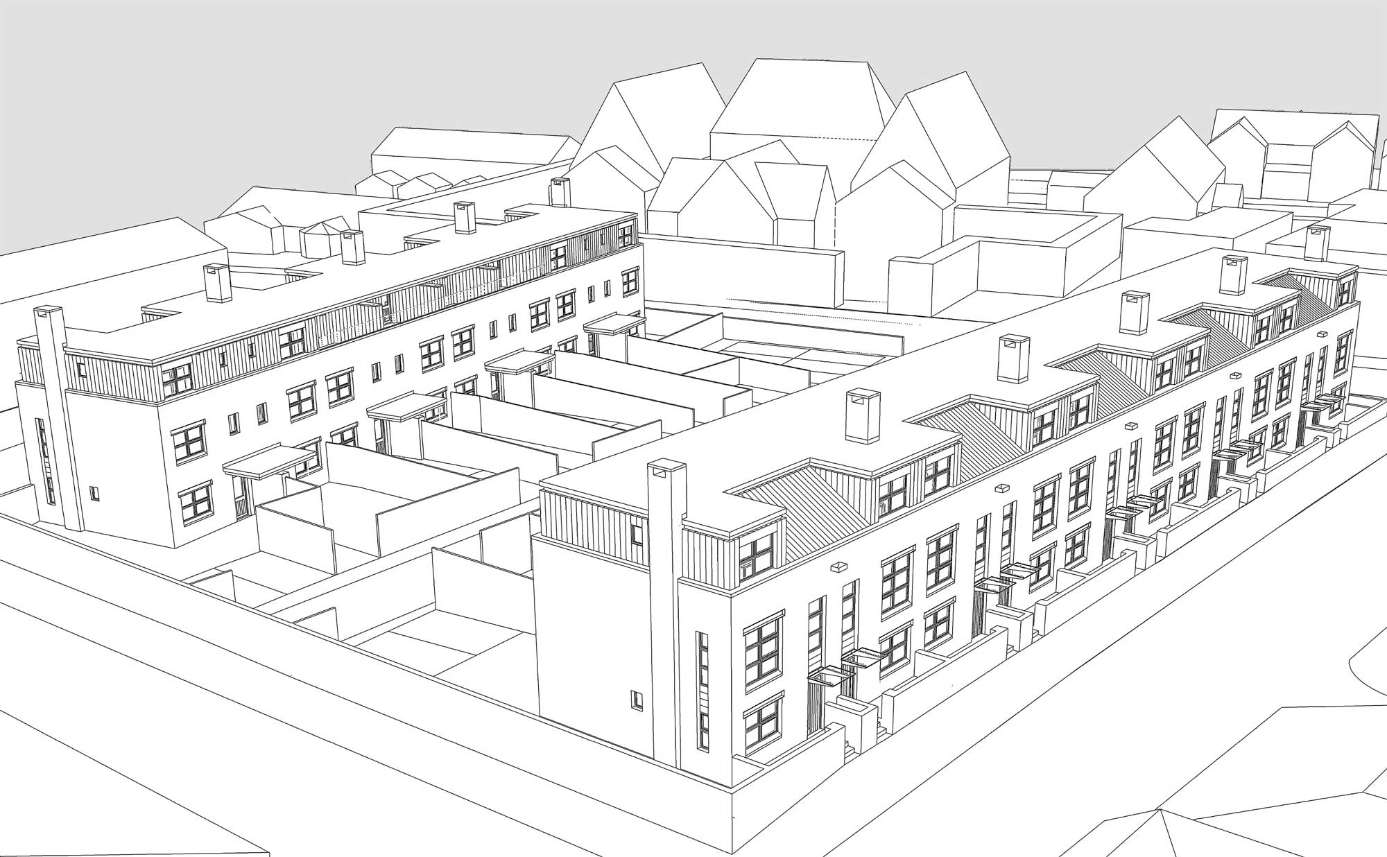 crewe social housing scheme sketch