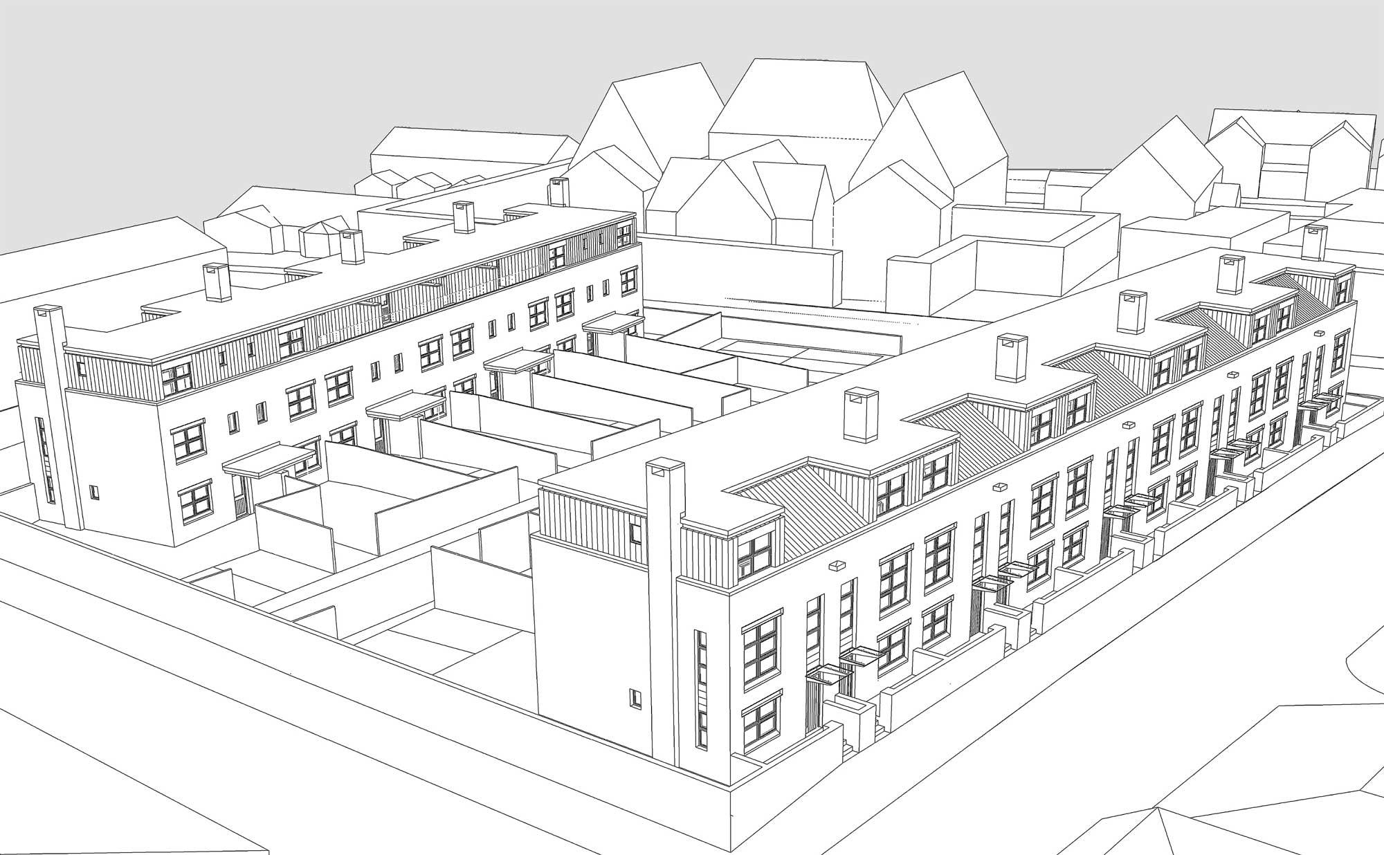crewe social housing scheme sketch