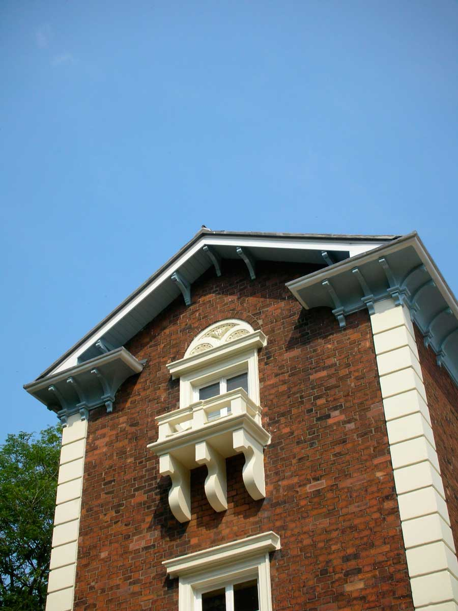 architect gable Juliet balcony window