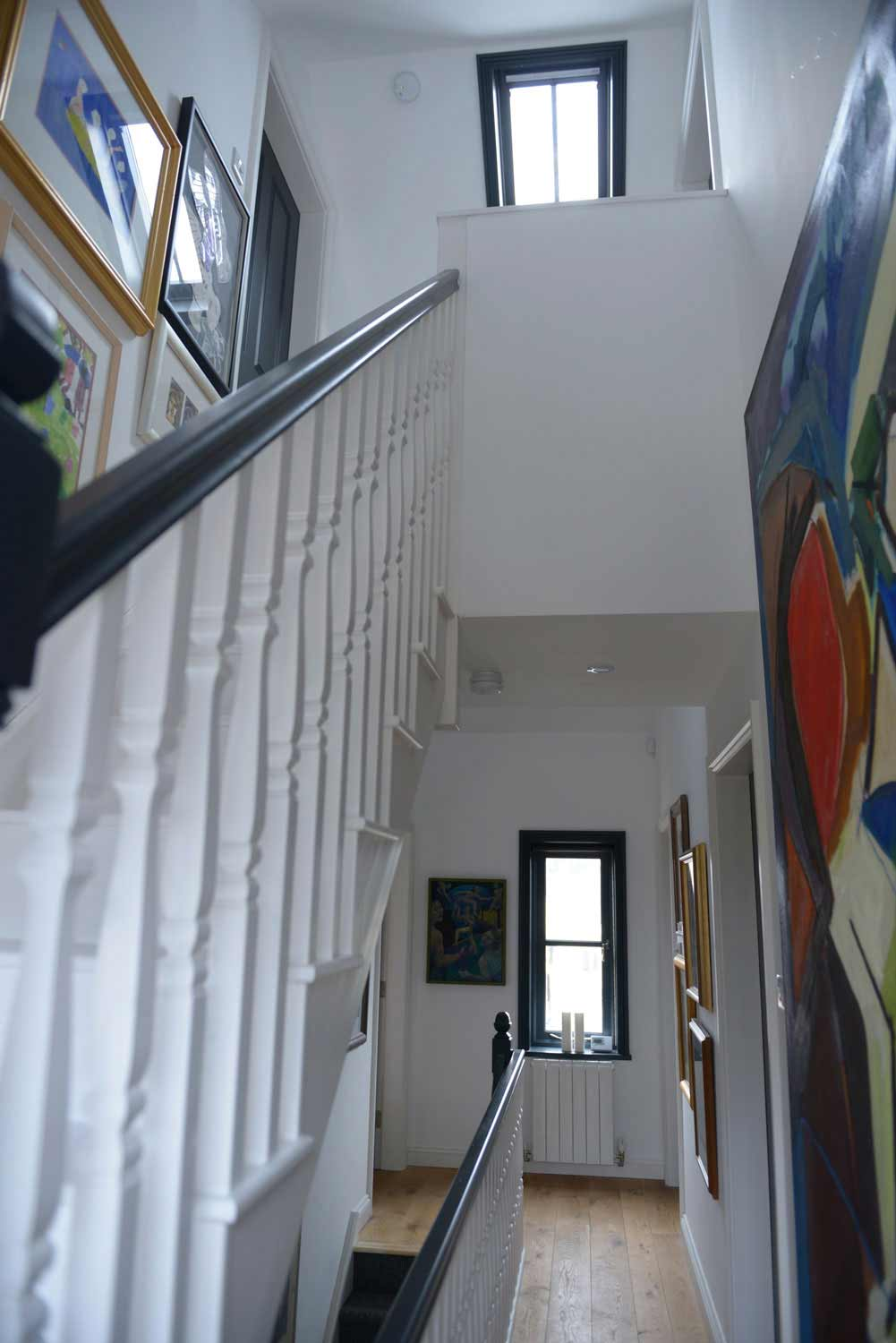 Victorian stairwell balustrade and landing