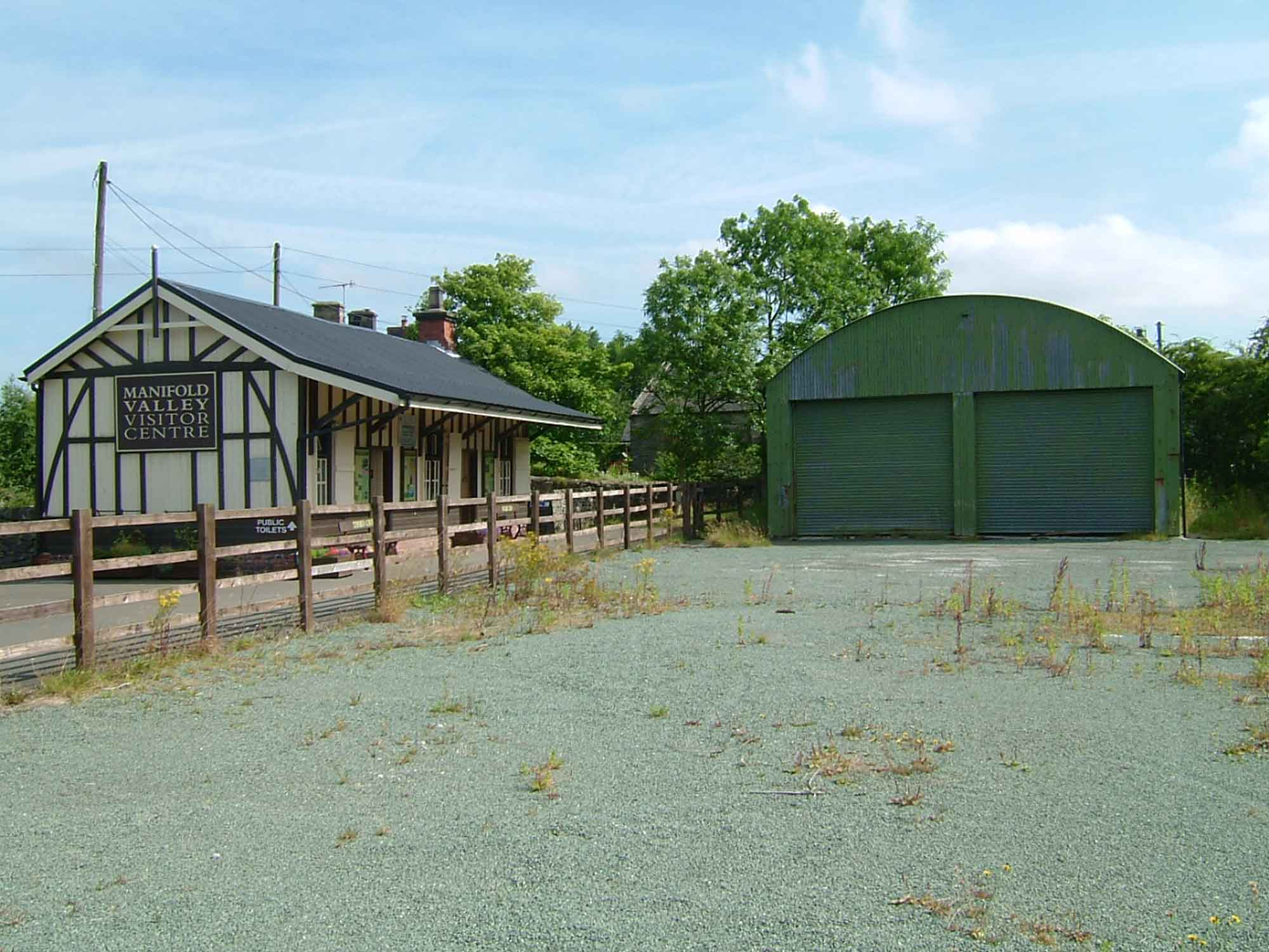 old photograph of manifold valley visitor centre