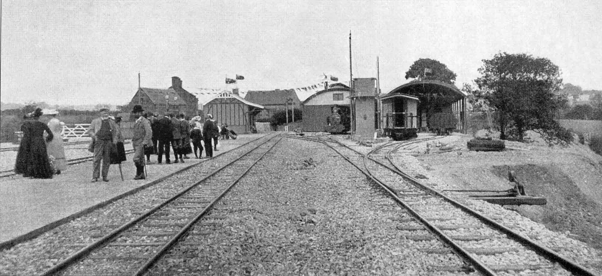 Hulme End railway station historic photograph 2