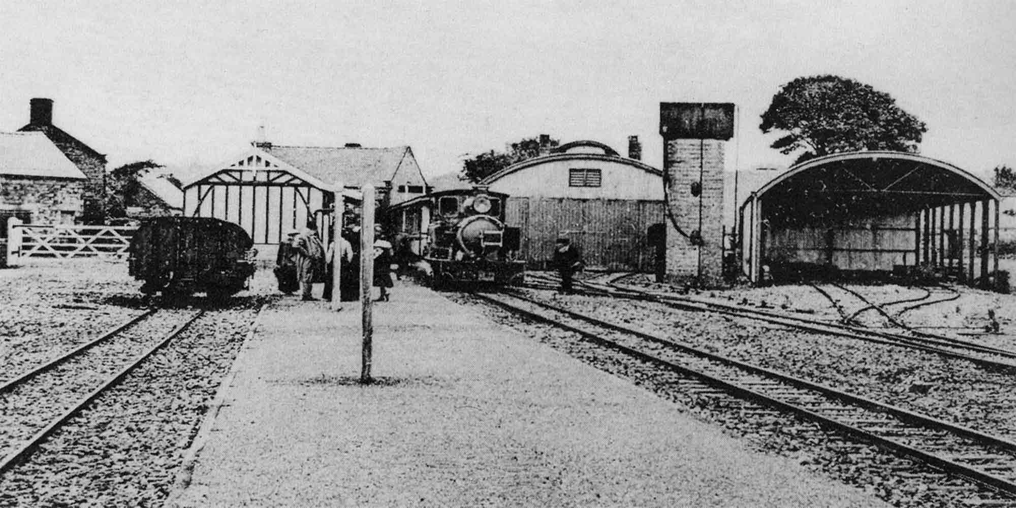 Hulme End railway station historic photograph