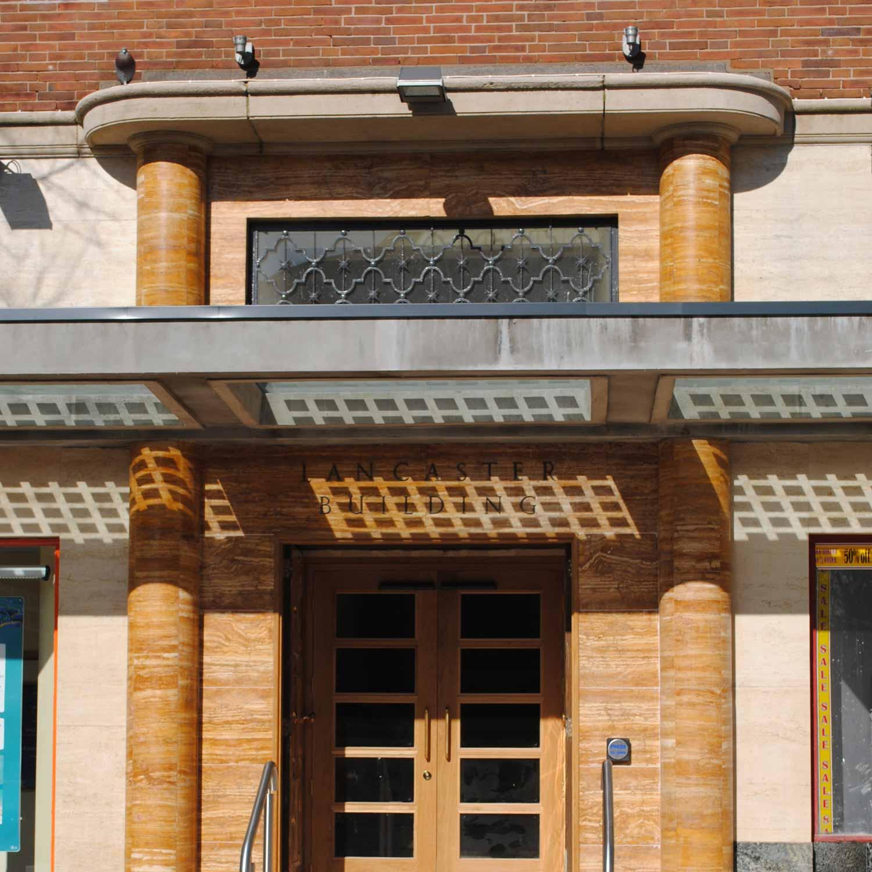lancaster building entrance door architecture