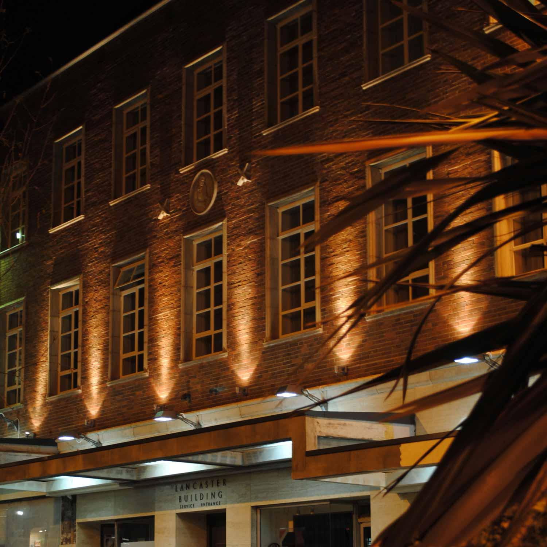conservation brickwork and night lighting