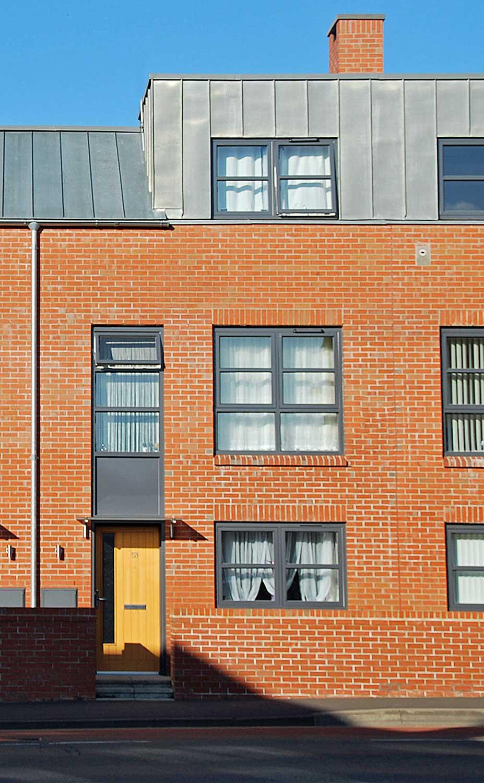 social housing aluminium windows and timber doors