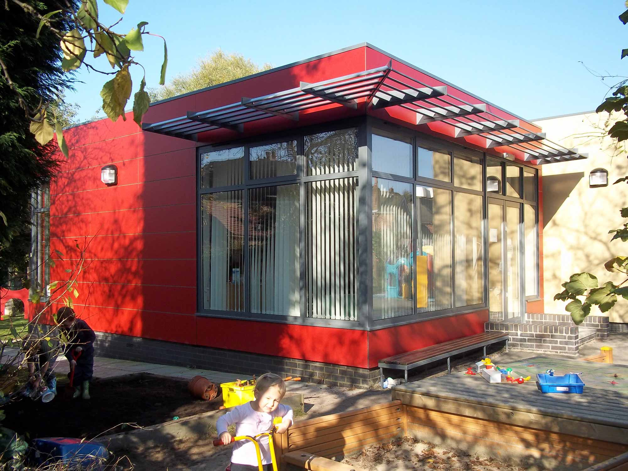 nursery school with solar shading