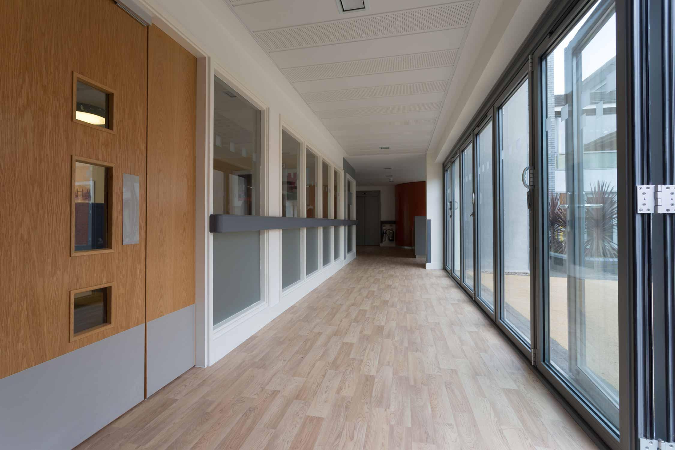 bi-fold doors, architect, corridor care home