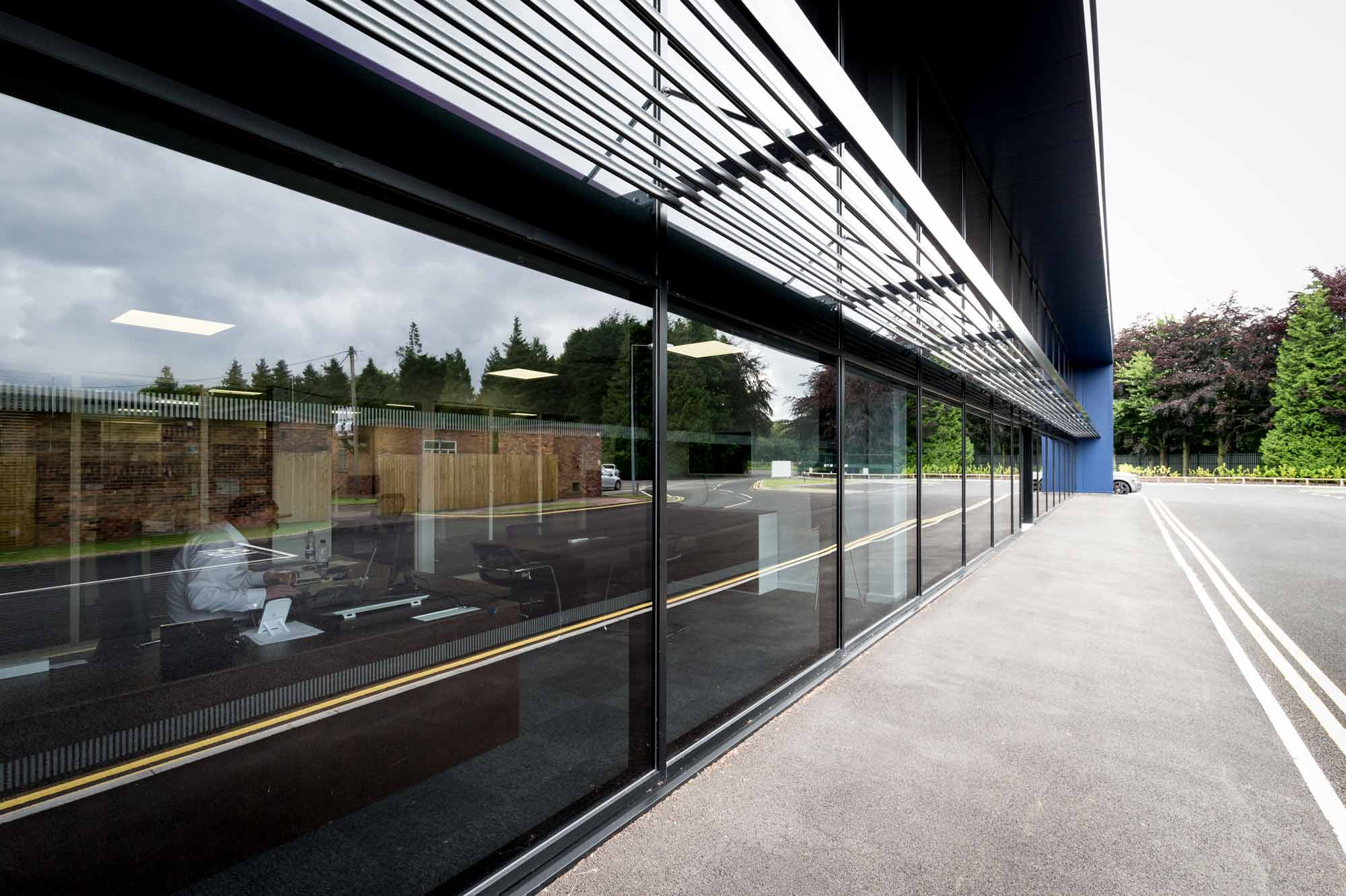 glass facade frontage commercial offices Brise soleil