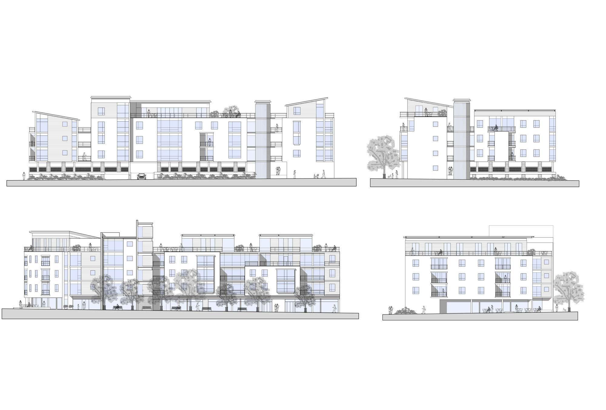 Newcastle under lyme brunswick street major commercial residential development elevations