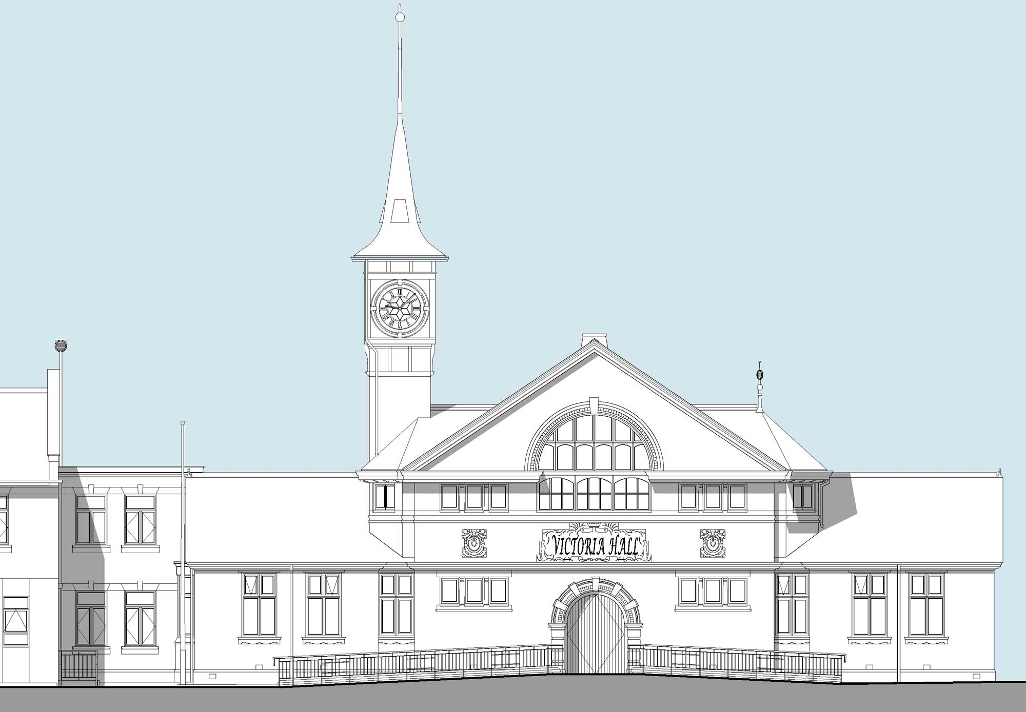 kidsgrove Victoria hall elevation drawing