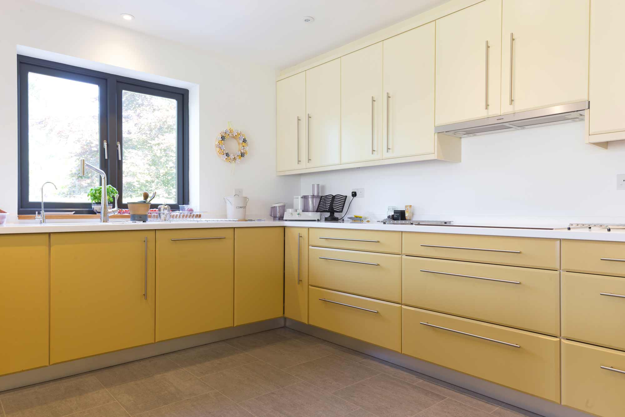 yellow modern kitchen design architecture