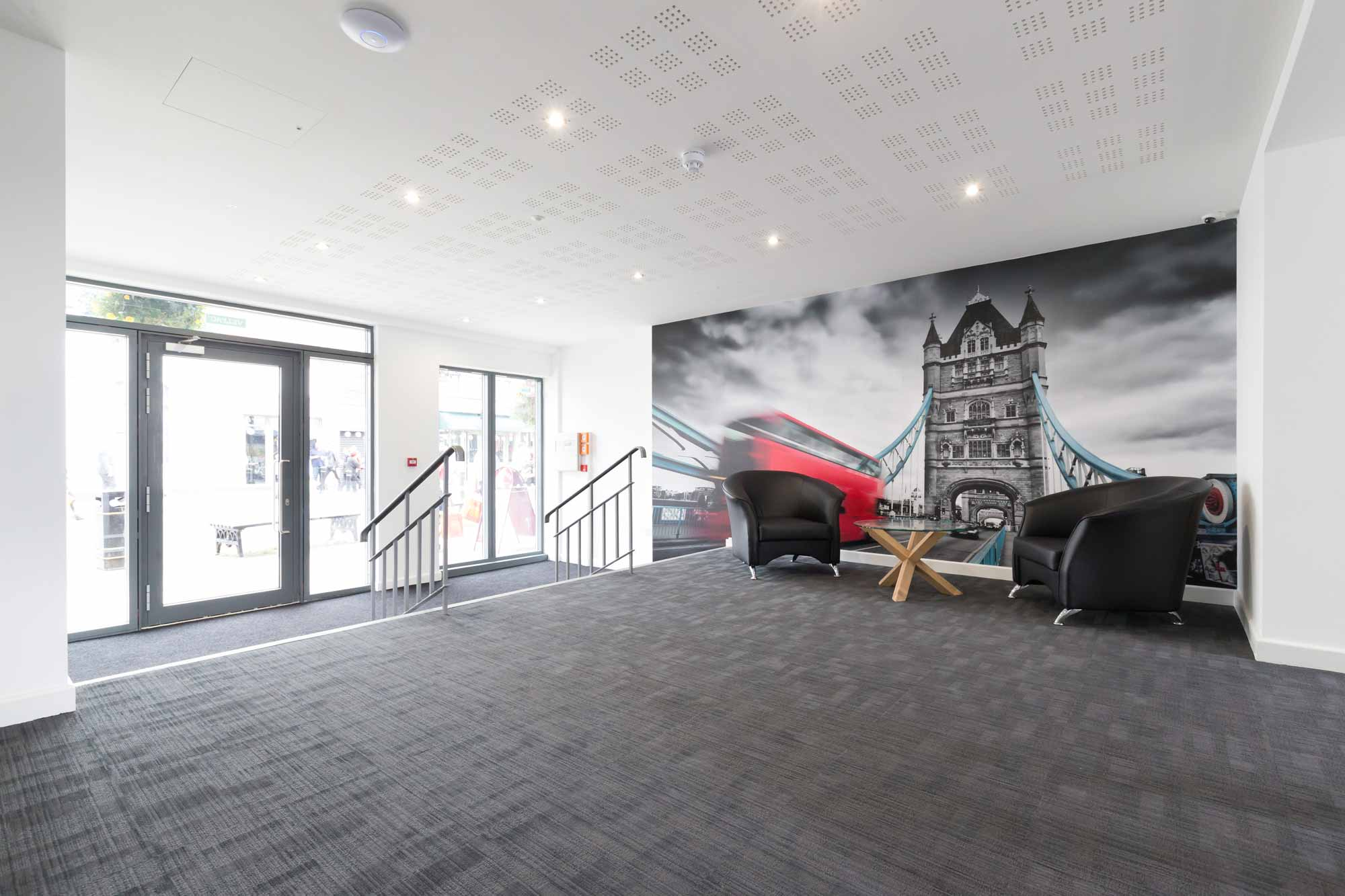 student accommodation newcastle under lyme entrance lobby