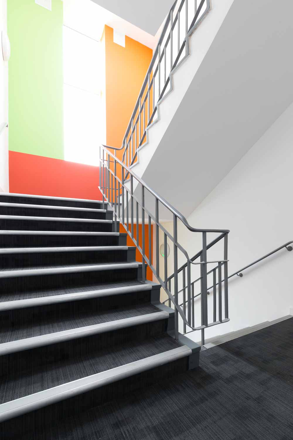 student accommodation newcastle under lyme staircase colour