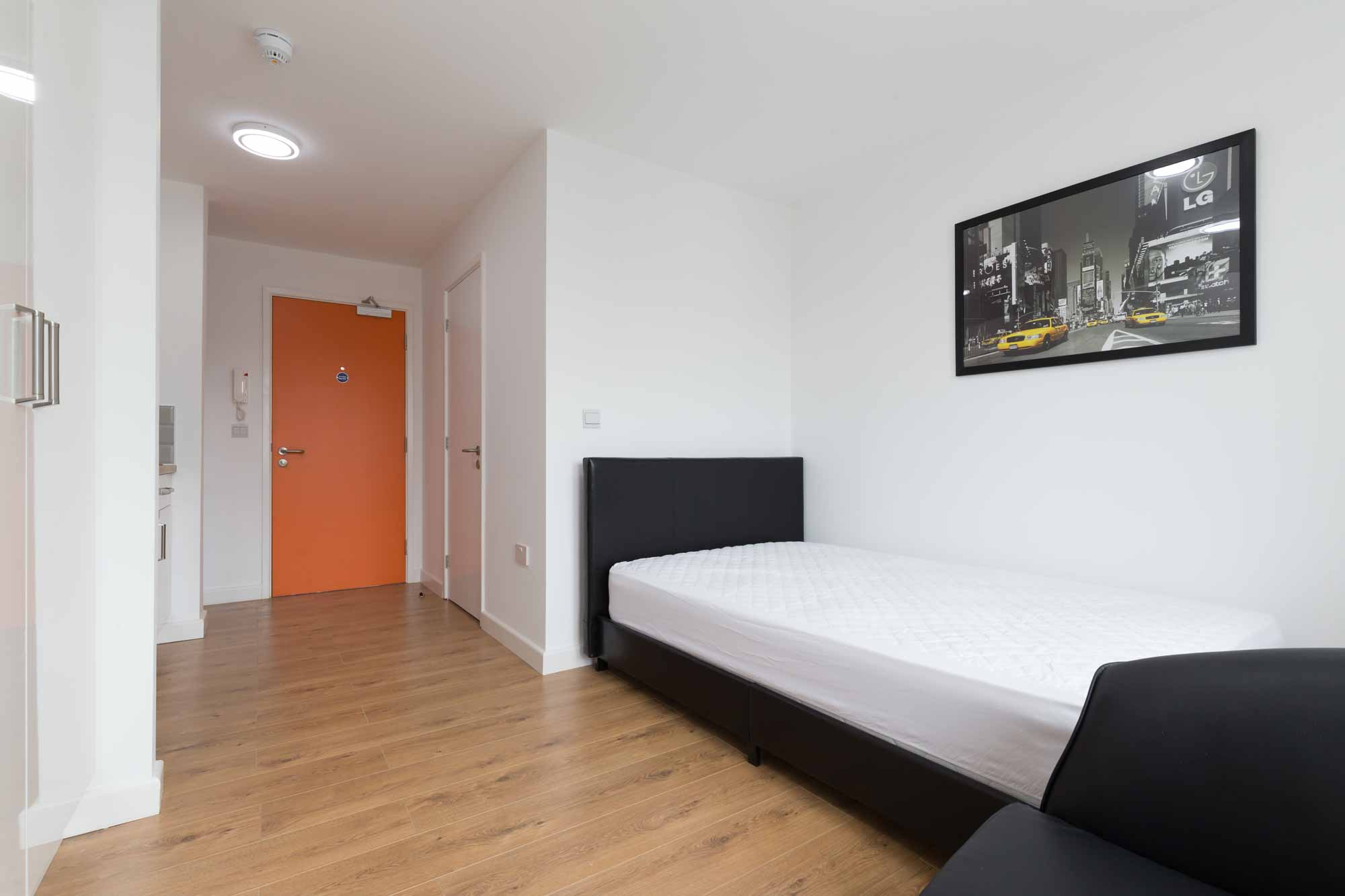 student accommodation newcastle under lyme studio unit bedroom