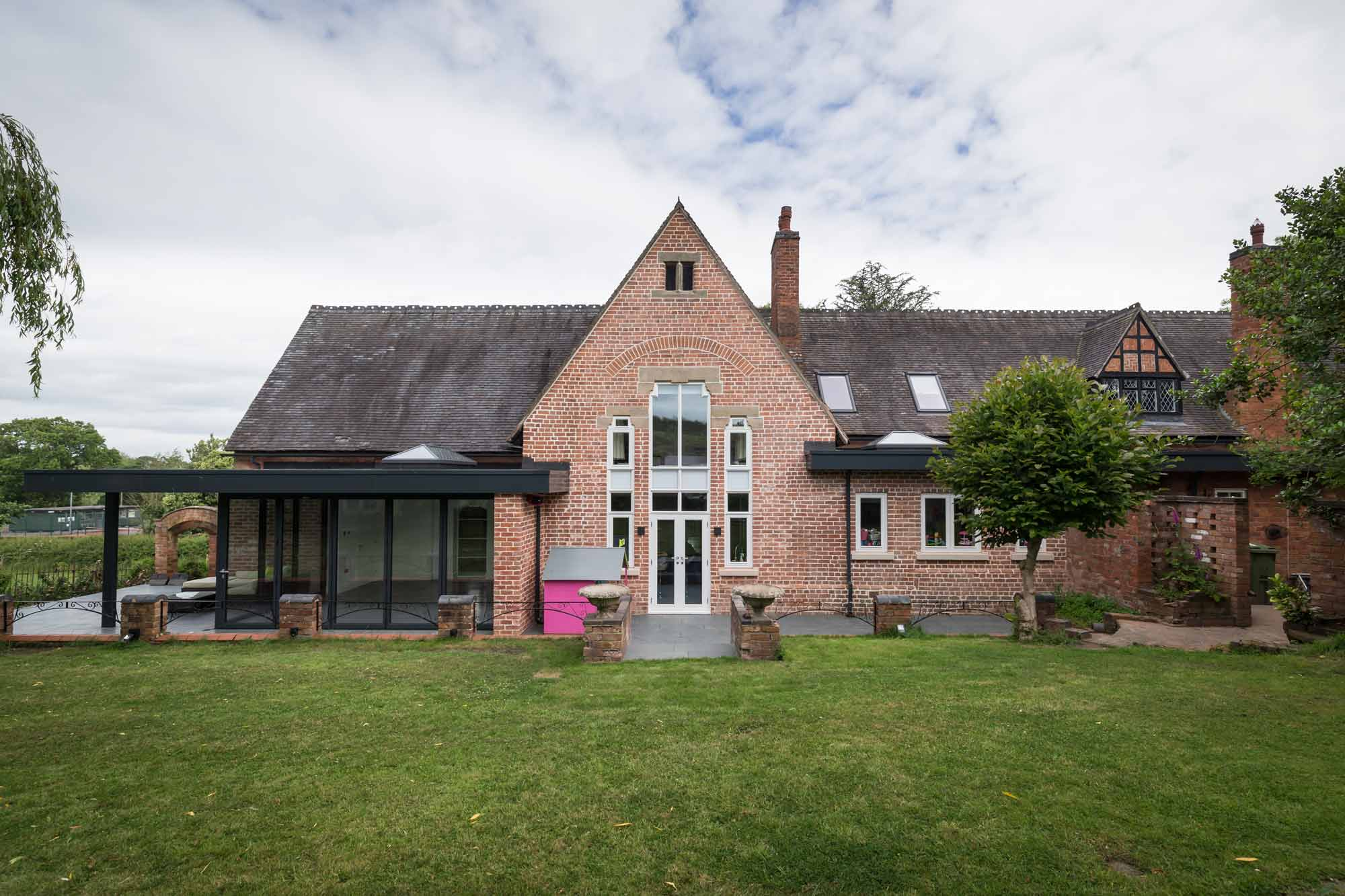 listed building grade 2 extension alterations ribbon window timber painted aluminium doors and fascia