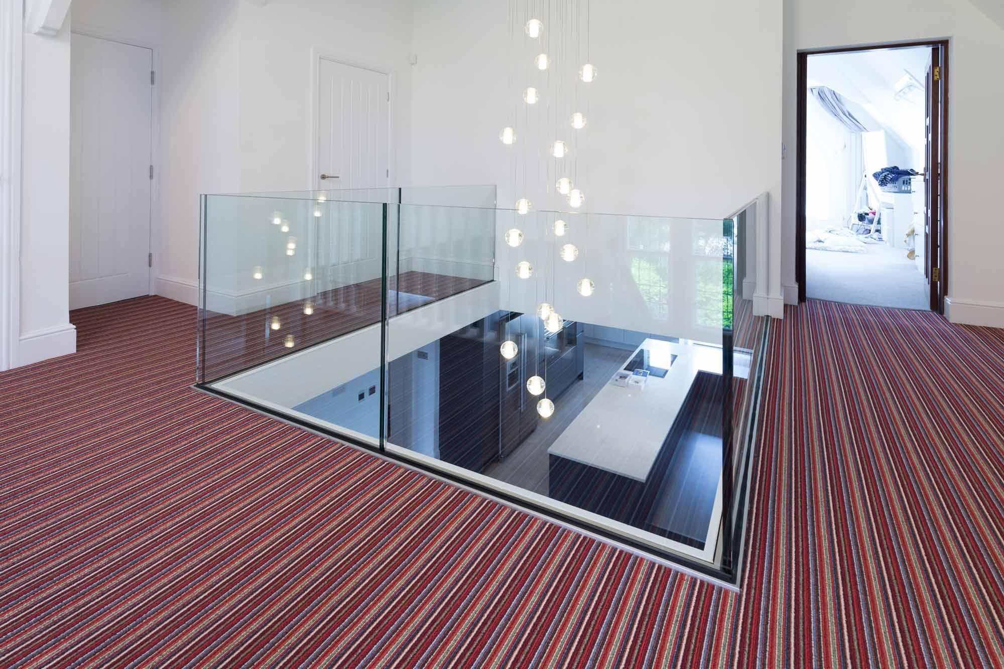 frameless glass balustrade landing staircase